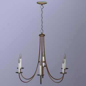 realistic metal chandelier electric 3ds
