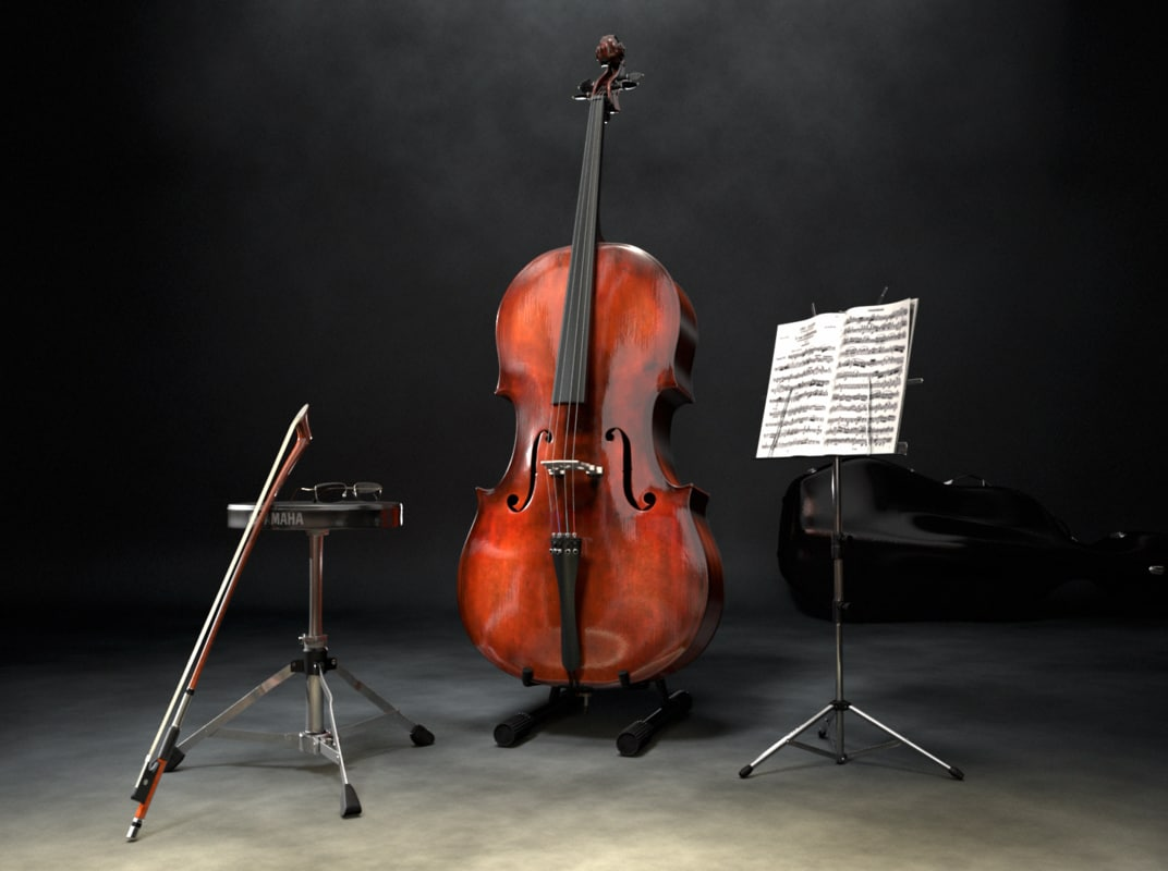 scene cello 3d model