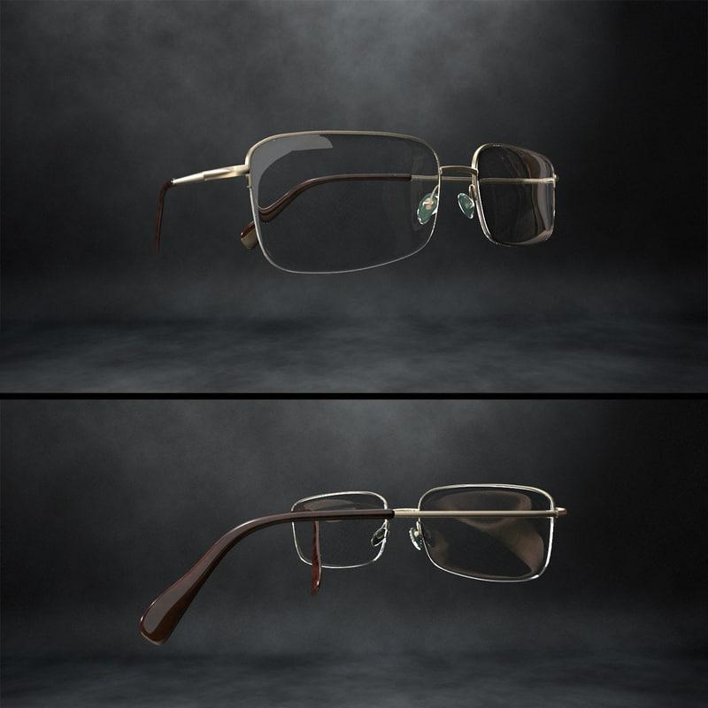 reading glasses 3d obj