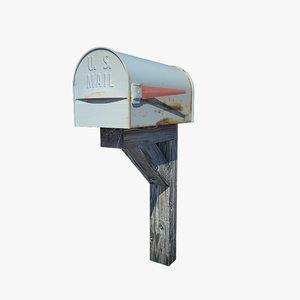 mail mail 3d obj