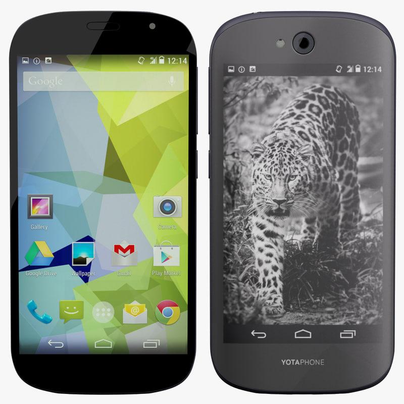 yotaphone 2 phone 3d max