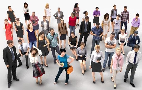 3d model human people 1 40x