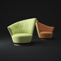 arabella-swivel-armchair 3d model