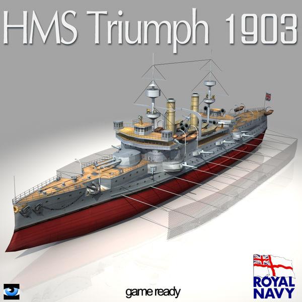 hms triumph 1903 world war max