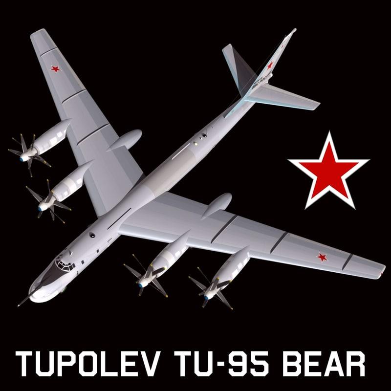 3d model tupolev bear