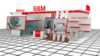 b m exhibition stand 3ds