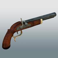 history pistol 3d max