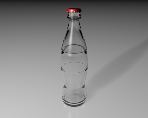 glass bottle 3d 3ds