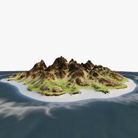 island rock 3d max