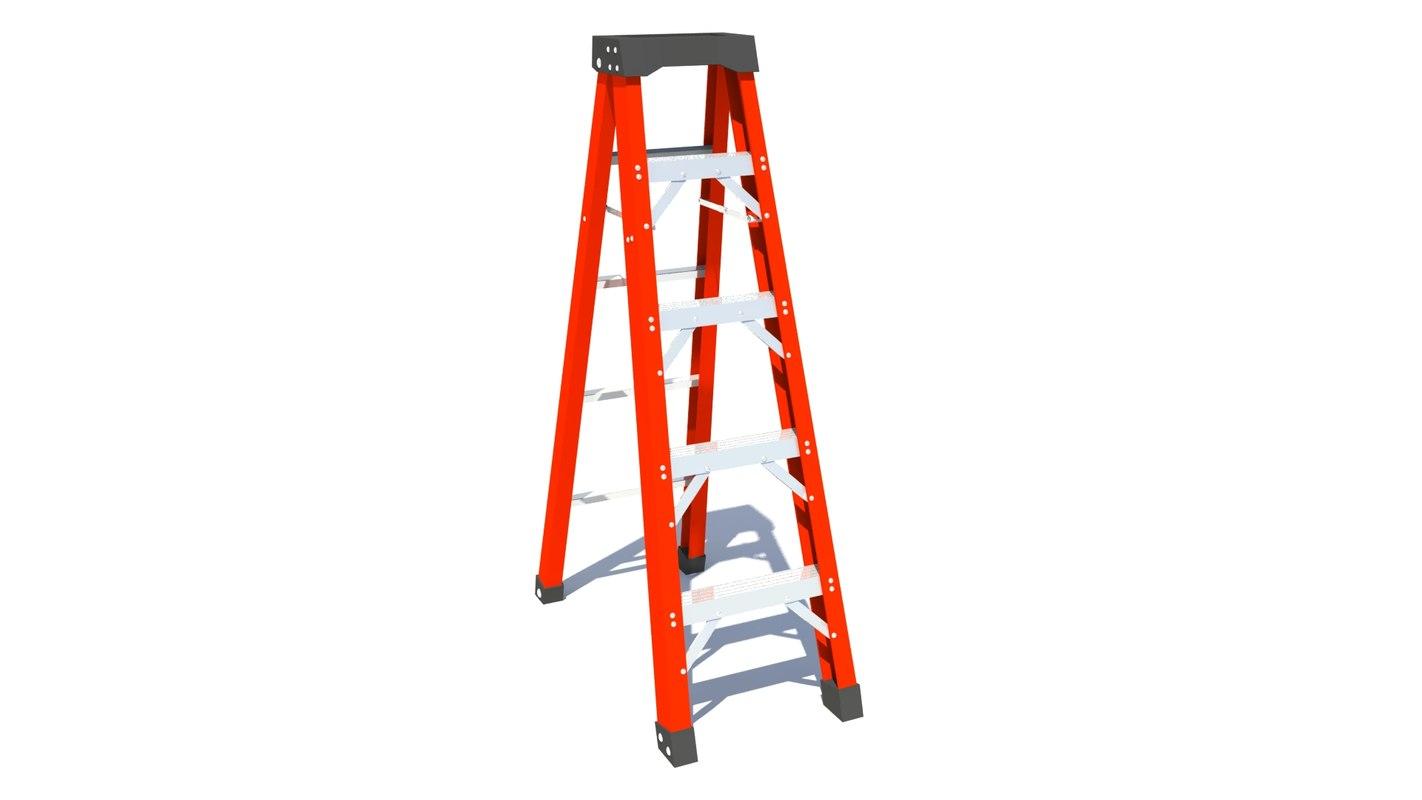 rigged ladder 3d ma