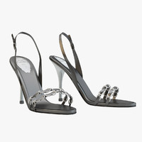 Rene Caovilla Black Sandals