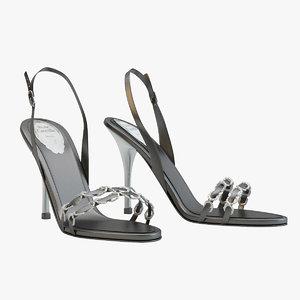 black sandals caovilla 3d 3ds