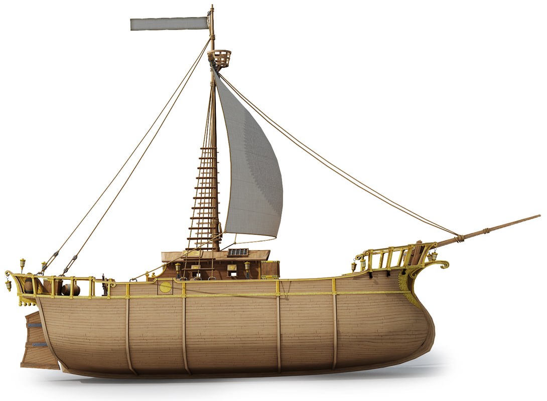 3ds max ready fantasy pirate ship