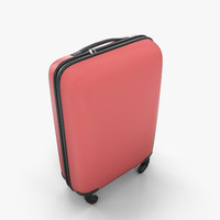 luggage case suitcase travel bag 3d model