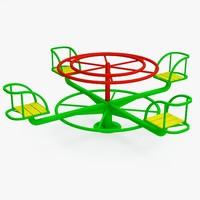 3d model carousel