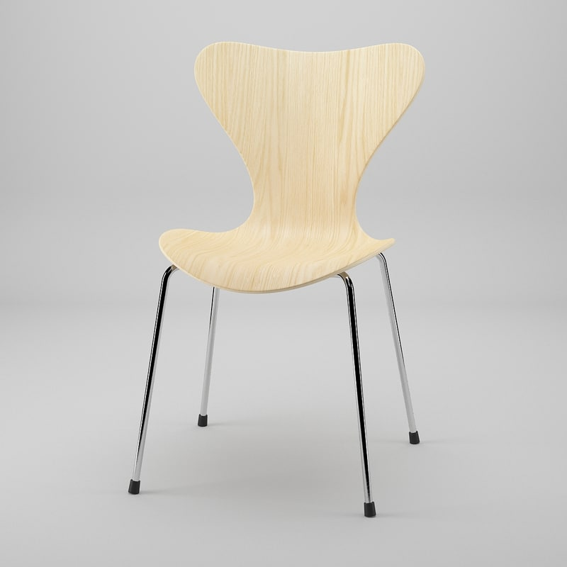 3d model of series 7 chair 3107