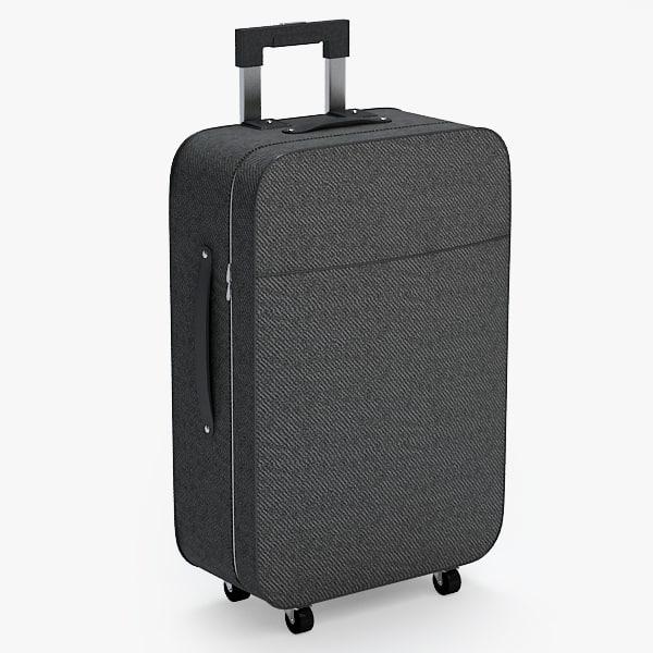 suitcase luggage case obj