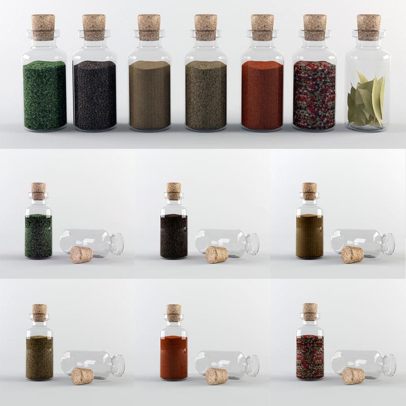spice jar glass 3ds