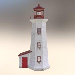 ready lighthouse 3d obj