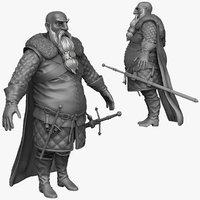 obj sculpt heavy medieval man