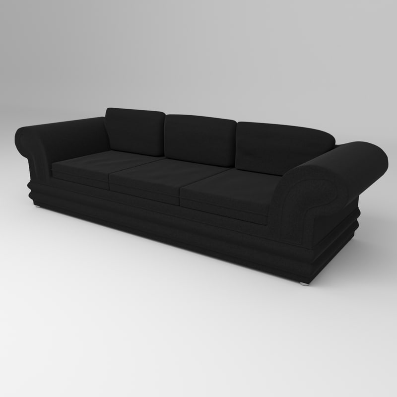3d model suede leather couch