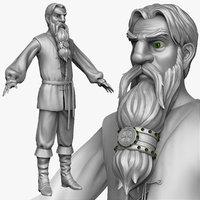 sculpt medieval peasant man obj
