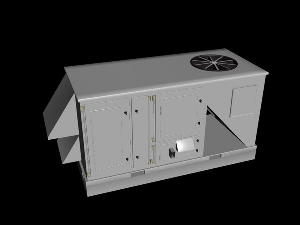 industrial air conditioner 3d obj