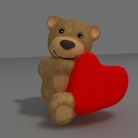 3d obj teddy bear