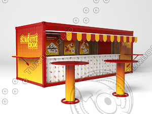 3d box table model