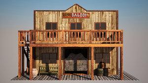 old west saloon 3d model