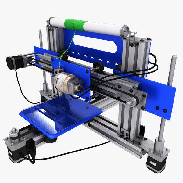3d realistic printer model
