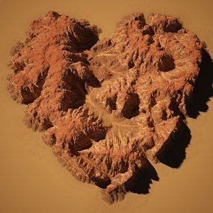 3d broken heart mesa rock model