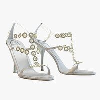 Rene Caovilla White Sandals
