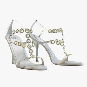 obj white sandals caovilla