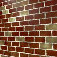 Red Worn Bricks 1