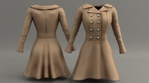 women peplum 3d model