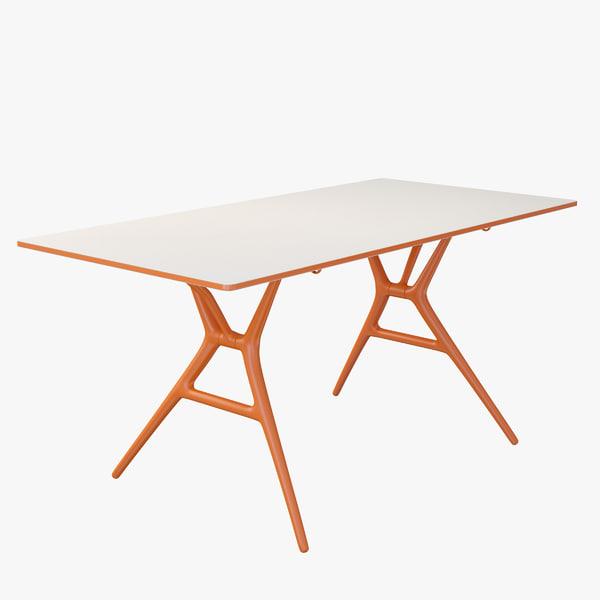 3d model spoon table office folding