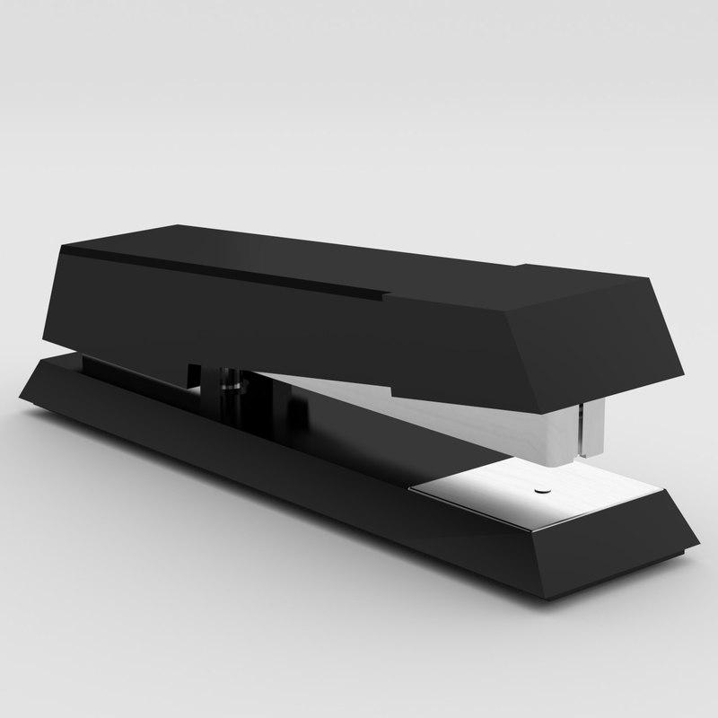paper stapler manual uv 3d model