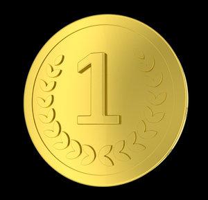 3d model golden coin