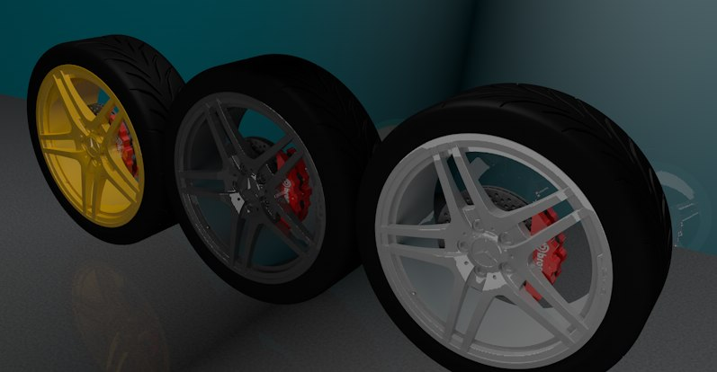 obj mercedes wheel
