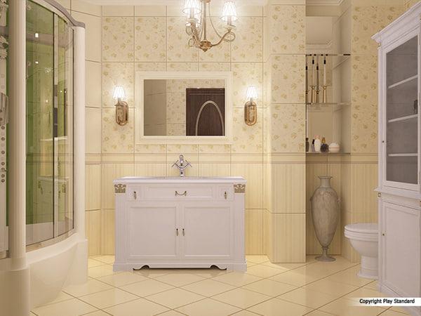 3d bathroom classic interior