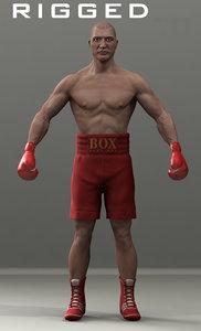 3d boxer boxing