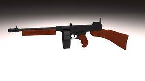 3ds max thompson 1928 gun