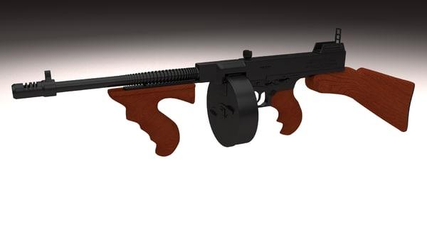 3d thompson 1928 gun