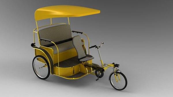 pedicab design 3d 3ds