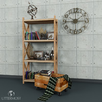 Bookcase with accessories from Uttermost(1)