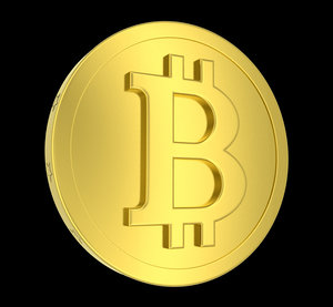 metallic coin bitcoin 3d obj