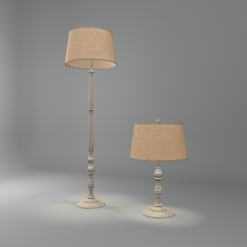 3ds max victorian modern lamp