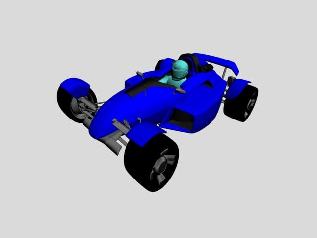 3ds max racing car
