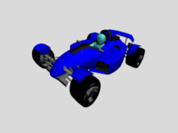 3ds max racing car